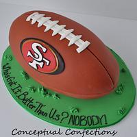 49ers Football Cake