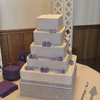 5 tier square- Sparkle!