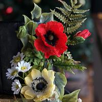 Poppies and Anemones
