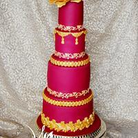 Asian-style wedding cake