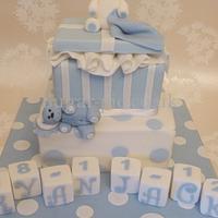 Parcel Bear christening cake