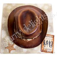 cowboy hat cake by Starry Delights