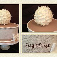 Lace Engagement Cake