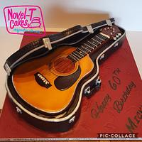Carved Guitar Cake