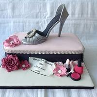 Shoe cake by Keeley Cakes