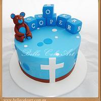 Cooper Baptism by Bella Cake Art