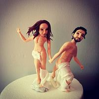 Nude Bride and Groom