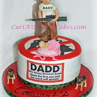 D.A.D.D men's baby shower cake (dad's against daudghters dating)