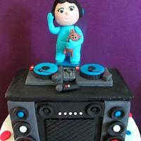 DJ Themed Christening Cake