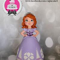 Sofia the first fondant cake topper