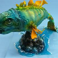 Sculpted cake fish