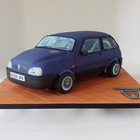 Rover Metro Ascot 3d car cake