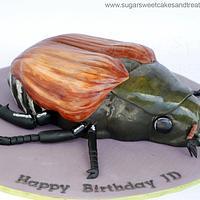 Japanese Beetle Bug Cake