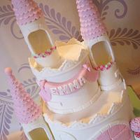 2 Tier Princess Castle by thesweetlittlecakery