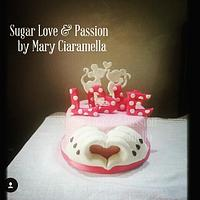 Minnie and Mickey Mouse Love cake (Pink version)