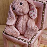 Vintage Bunny Cake Topper