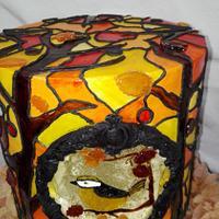 Stained Glass Autumn challenge by Sabrina Mattia