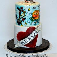 Sailor Jerry Tattoo Cake