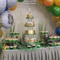 1st birthday Jungle cake and setting