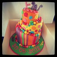 topsy turvy christening cake
