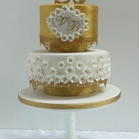 Vickie Golden Wedding Anniverary Cake