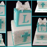 Tiffany Blue Christening Cake