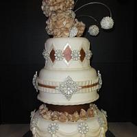 Jeweled wedding cake