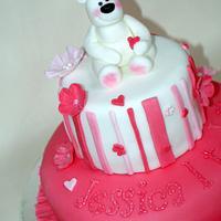 1st birthday cake by cakesofdesire