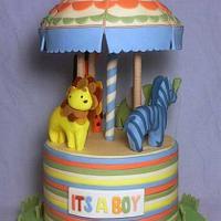 Safari Carousel Cake
