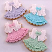 Pastel Party Dress Cookies