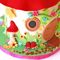 Toadstool House Cake  by Shamima Desai