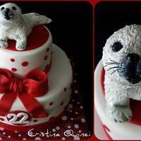 Cake baby seal