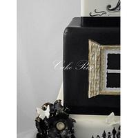 Romantic Wedding Cake by Karina Leonard