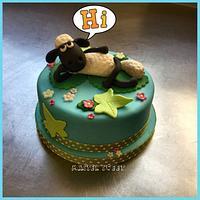 Shaun topper cake