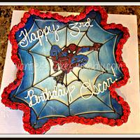 Spiderman pull apart cake