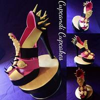 Baroque spiked gum paste shoe
