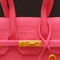 Hermes Pink Birkin Birthday Cake