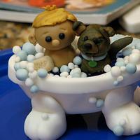 Boy & Puppy Bath Time by SarahBeth3