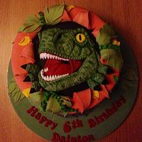 T-Rex cake by Daisychain's Cakes