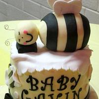 Bumblebee Baby Shower Cake by Kate