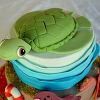Kareta sea turtle cake