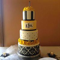 Yellow & black Wedding