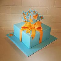 Present cake by Kathy Cope