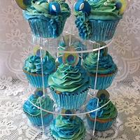 Peacock Cupcakes by Melissa's Cupcakes