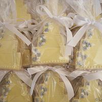 Yellow & Gray Wedding Cake Cookies! by Loren Ebert