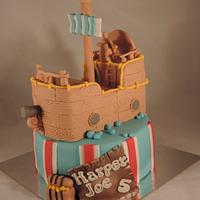 Pirate ship cake :)