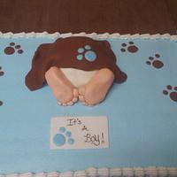 Babys rump/ puppy theme