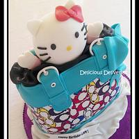 Hello Kitty Coach Purse Cake by DeliciousDeliveries