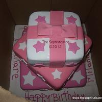 Gift box cake by Sophisticated