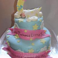 Baby Gender Reveal Cake by Karen Hearty